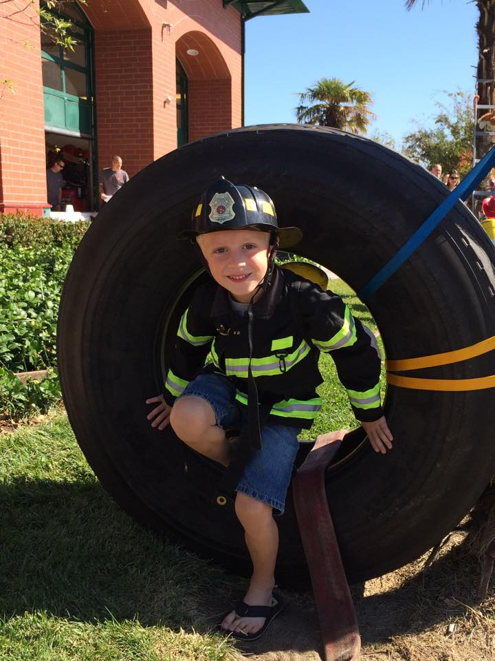 Kids Firefighter Challenge at Pancake Breakfast